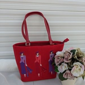 Red Purple Hat Ladies Purse Bag